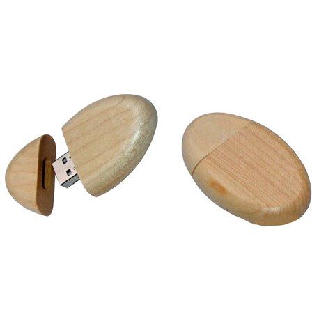 Big Oval Wood Usb Drive